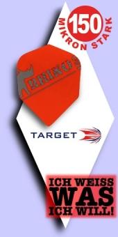 Neu im August - Target Rhino - 150 Mikron Standard Flights - Rot