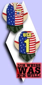 Metronic Football Shirt Flights - USA