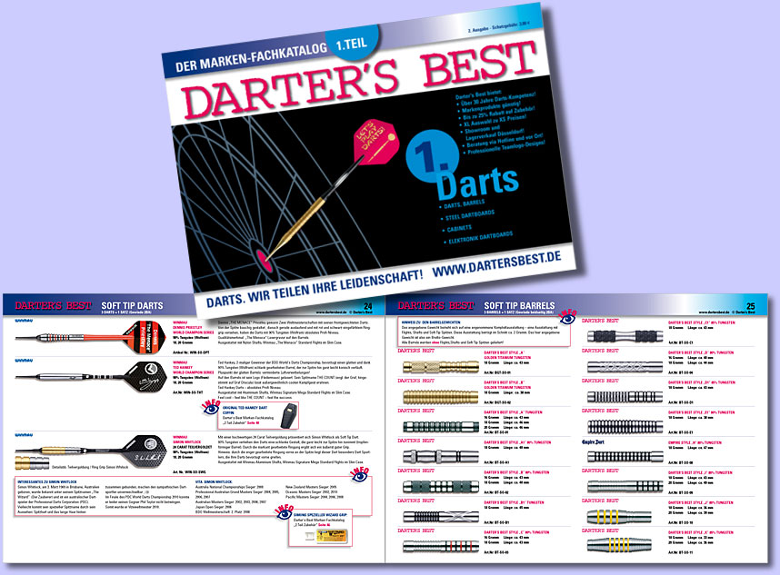 Darter's Best Katalog 1. Teil Darts