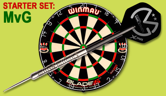 Detailabbildung Darter's Best Michael van Gerwen World Schampion Starter Set Steel Tip
