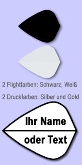 Darter's Best bestes Angebot - 20 Sätze Namensflights Form Kite 100 Mikron