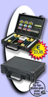 Darter's Best bestes Angebot - Luxus Alu Dart Case - Schwarz