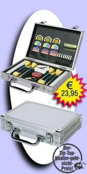 Darter's Best bestes Angebot - Luxus Alu Dart Case - Silber