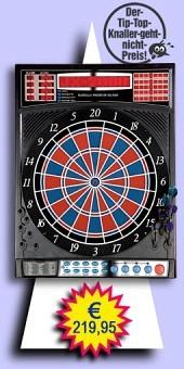 Darter's Best bestes Angebot - Karella - Premium Silver Elektronisches Dartboard - 2-Loch