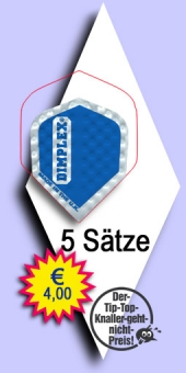 Darter's Best bestes Angebot - Harrows Dimplex - Mini Standard Flights - Blau im 5-Satz Beutel