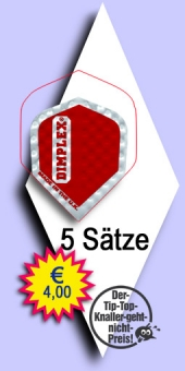 Darter's Best bestes Angebot - Harrows Dimplex - Mini Standard Flights - Rot im 5-Satz Beutel
