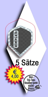 Darter's Best bestes Angebot - Harrows Dimplex - Mini Standard Flights - Schwarz im 5-Satz Beutel