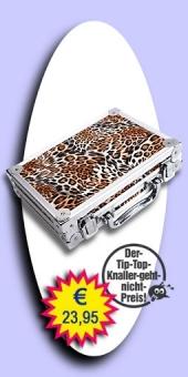 Darter's Best bestes Angebot - Luxus Alu Dart Case - Leopard