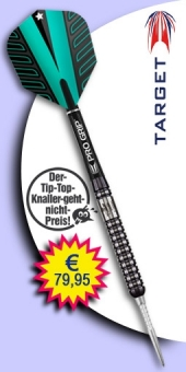 Darter's Best bestes Angebot Target - Rob Cross 90% Tungsten (Wolfram) Limited Edition Black Titanium - Steel Tip Darts 23 Gramm