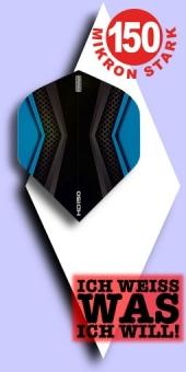 Neu im Mai - Pentathlon HD 150 Mikron Standard Flights - 2-farbig - Schwarz/Blau