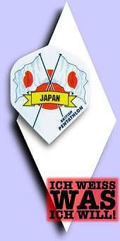 Neu im Februar - Pentathlon Flags (Fahnen) - 100 Mikron Standard Flights - Japan