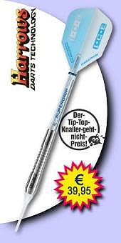 Darter's Best bestes Angebot - Harrows - I.C.E. Zero 90% Tungsten (Wolfram) - Soft Tip Darts 18 Gramm