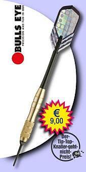 Darter's Best bestes Angebot - Bulls Eye - Soft Tip Darts - Brass (Messing) - 14 Gramm